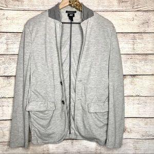 H&M   Gray 2 Button Cotton Blazer w/ Pockets